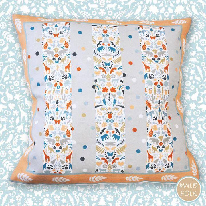 Wild Folk Print Cushion - Spot Pattern