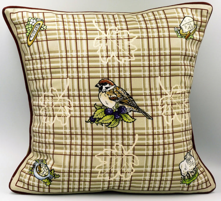 Lancashire Cushion - Bird Design