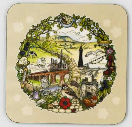 Heart & Soul Lancashire Coasters (Pack of 4)