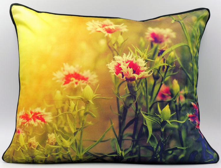 Golden Flower Cushion