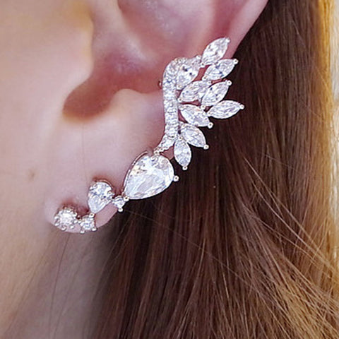 Single Girl Angel Wings Ear Cuff Long Section Of Non-Pierced Bones Earrings Tide Ear Hook Clip On Earrings Ear Cuffs For Women