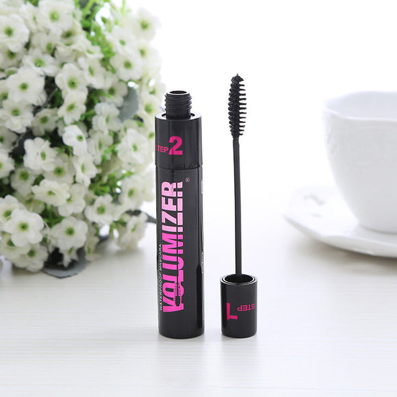 New Long Curling Makeup Eyelash Black Waterproof Fiber Mascara Eye Lashes