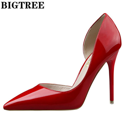 2017 Red Pumps Brand Women Heel Shoes Sexy High Heels Party Shoes Woman Wedding Shoes Office Pumps Zapato Mujer Shoes