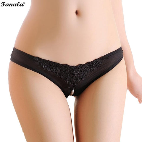 Women  Panties Underwear Bragas ropa interiorLace Patchwork Solid Front Crotch Sexy  String Beads Panties Underwear N3020