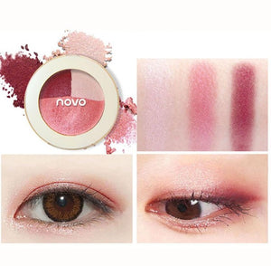 3 Colors Mixed Pearlescent Matte Eyeshadow Eye Shadow Make Up Textured Pallette OC27