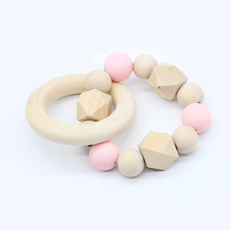 Pink Bamboo Teether Bracelet - Camila New York