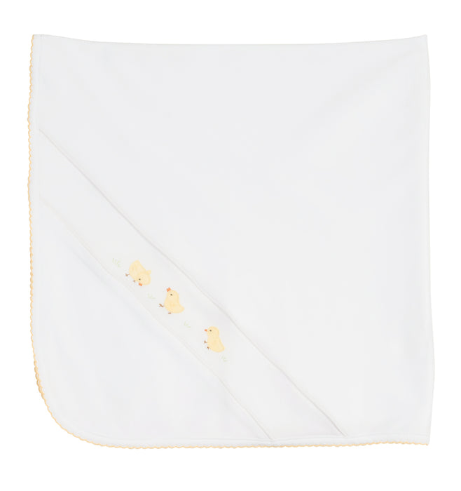 White Baby Chick Blanket - Feltman Brothers - Camila New York