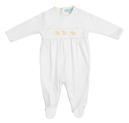 White Baby Chick Romper - Feltman Brothers