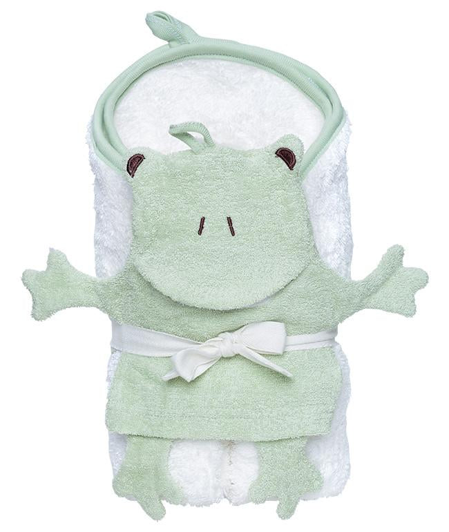 Hooded Towel & Frog Mitt Gift Set - Under the Nile