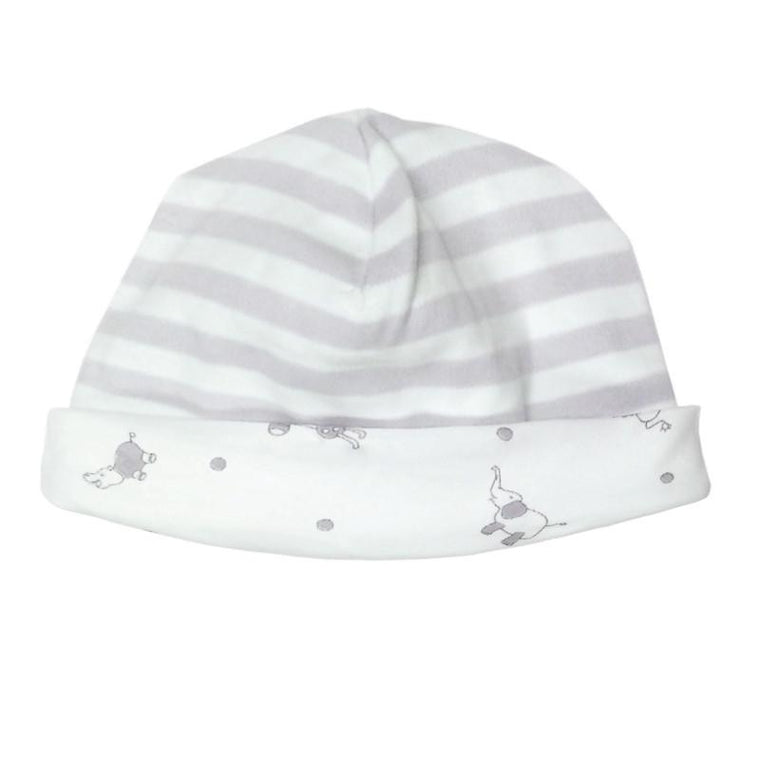 Reversible Grey Stripe Hat - Under the Nile