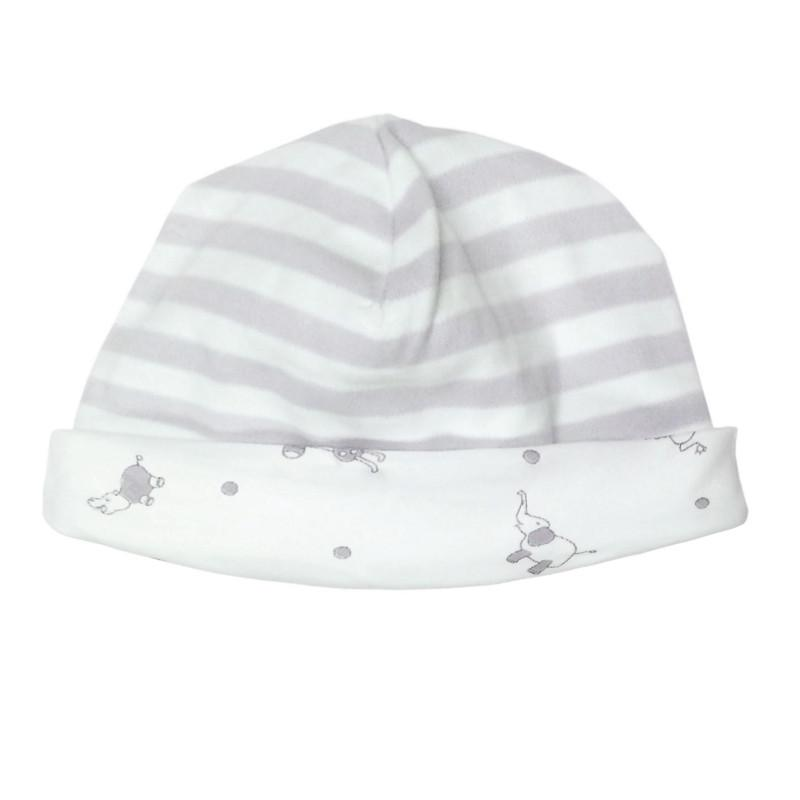 Reversible Grey Stripe Hat - Under the Nile - Camila New York