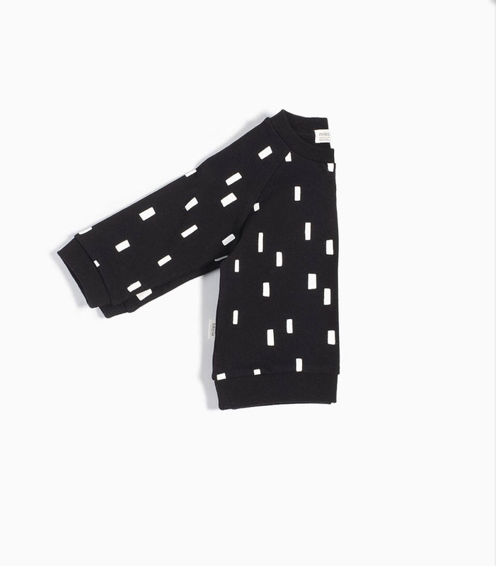 """MILES BASIC"" BLACK PLAY BLOCKS CREW NECK SWEATER - Camila New York"