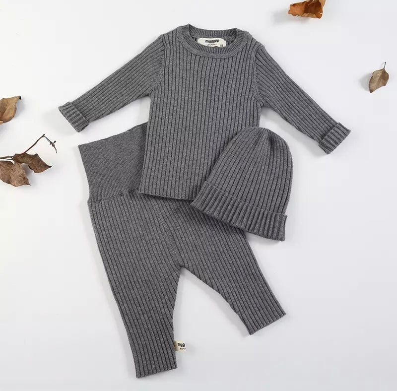 Grey Quincy 3 Piece Set - Camila New York