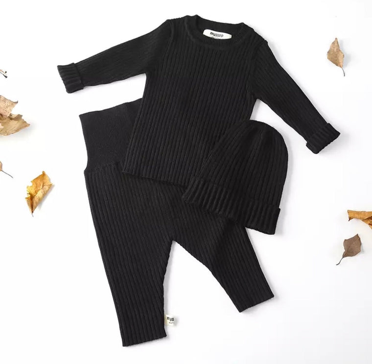Black Quincy 3 Piece Set