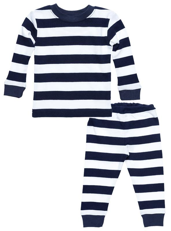 Navy Rugby Pajama Set - Under the Nile