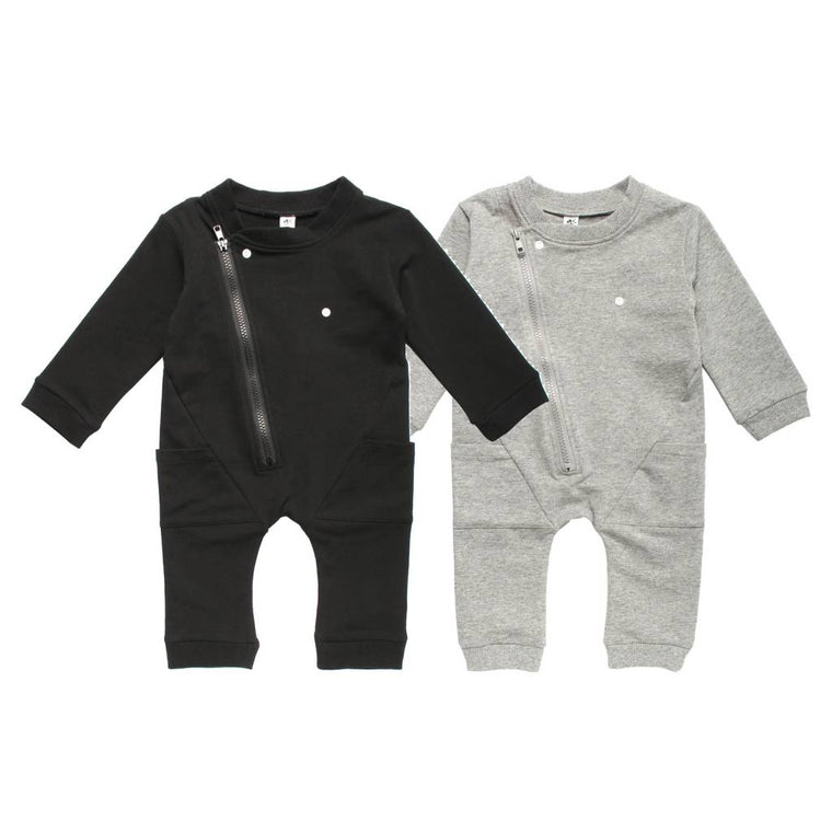 Long Sleeve Biker Romper- Earth Baby Outfitters