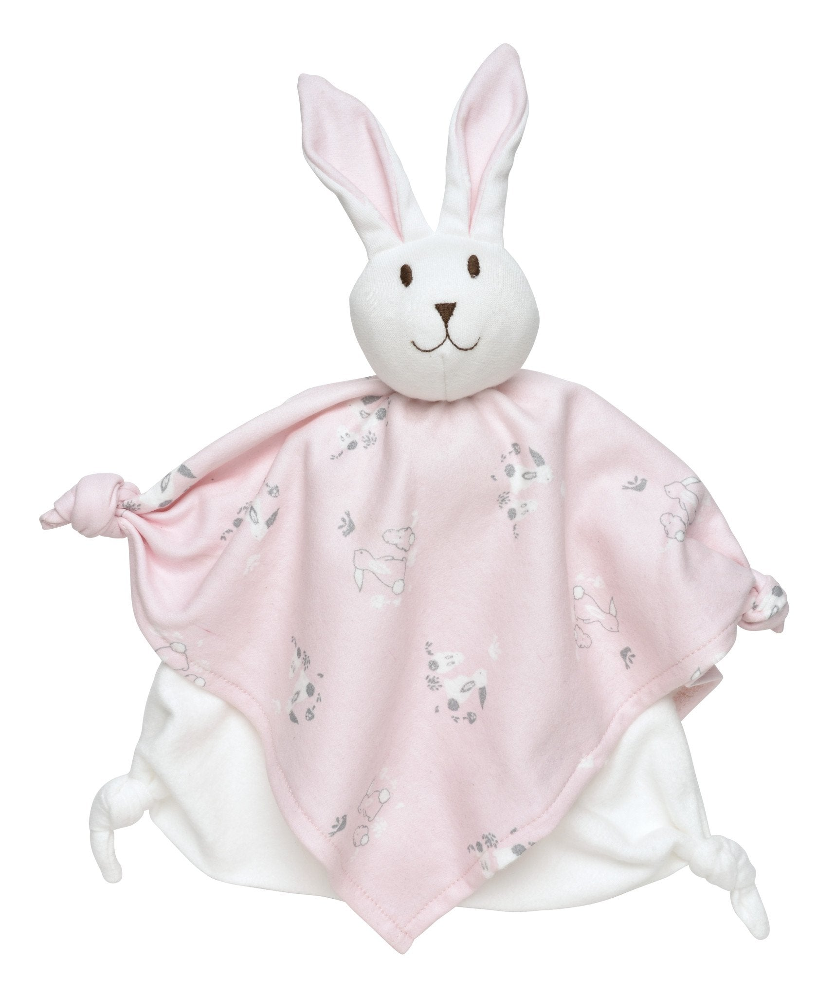 Pink Bunny Baby Blanket Lovey - Under the Nile - Camila New York
