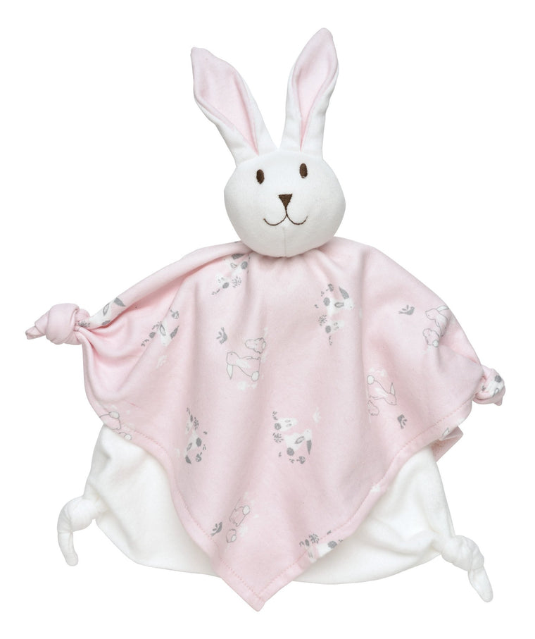 Pink Bunny Baby Blanket Lovey - Under the Nile