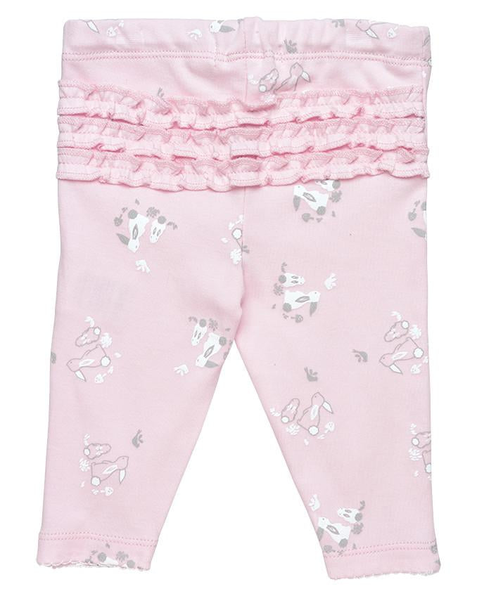 Pink Bunny Ruffle leggings - Under the Nile