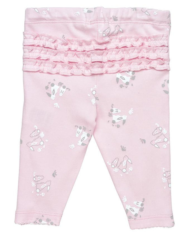 Pink Bunny Ruffle leggings - Under the Nile - Camila New York