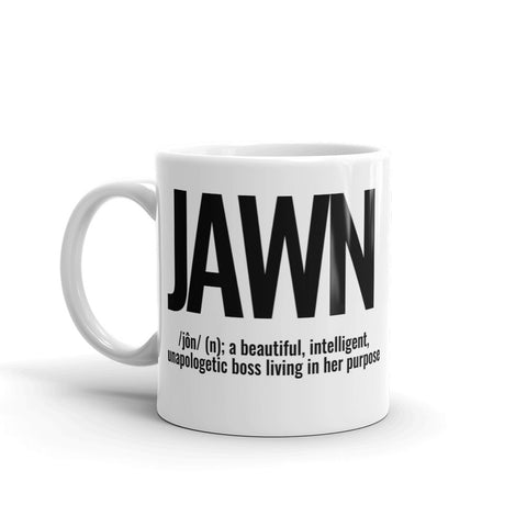 """WHAT'S A JAWN?"" MUG"