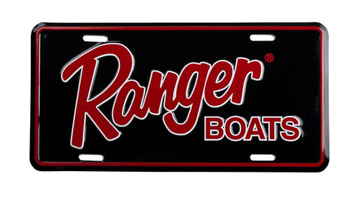 Ranger License Plate - Black Red - Angler's Choice Marine