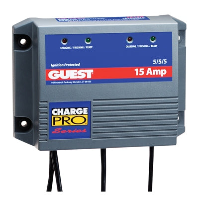 Guest Charge Pro™ Waterproof Battery Charger - 3B 15 Amp - Angler's Choice Marine