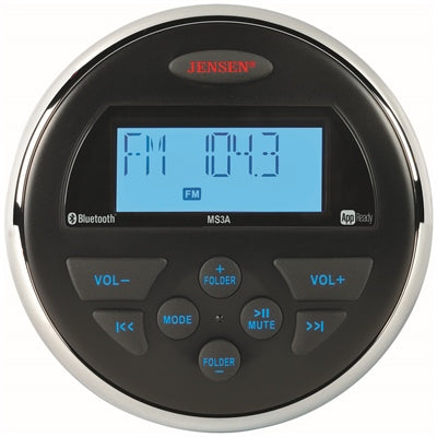 AM/FM/USB Bluetooth Compact Stereo with App Control - Angler's Choice Marine