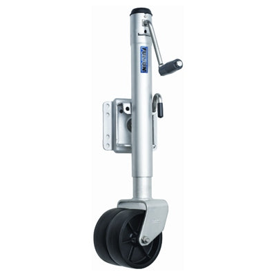 "Dual Wheel Bolt-Thru Swivel Mount Jack - 1,500 lbs. (TW/GTW), 6"" - Angler's Choice Marine"
