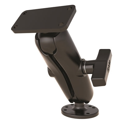 "1.5"" Ball Mount with Rectangular Base and Round Base - For Humminbird Helix 5 - Angler's Choice Marine"