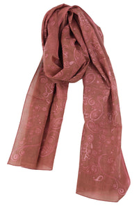 Grateful Dead Long Bear Scarf Marsala - eDeadShop.com
