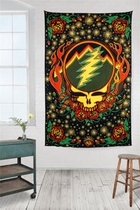 3-D Grateful Dead Scarlet Fire SYF Tapestry - eDeadShop.com