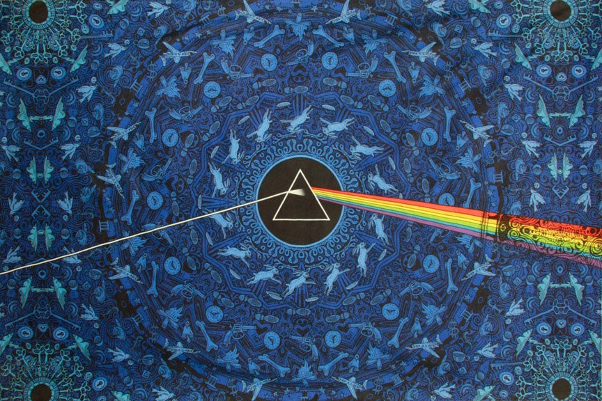 3-D Pink Floyd Dark Side Lyrics Blue Tapestry