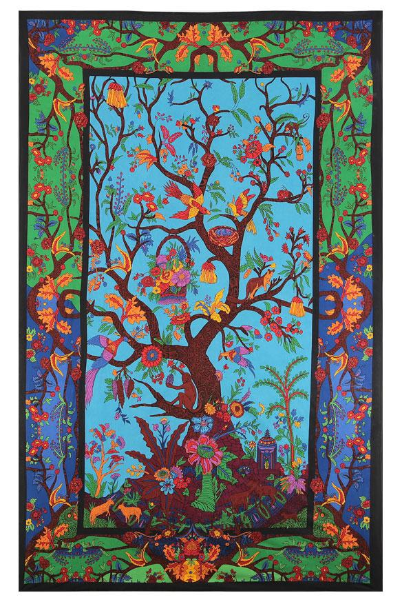 3-D Colorful Tree Of Life Tapestry - eDeadShop.com