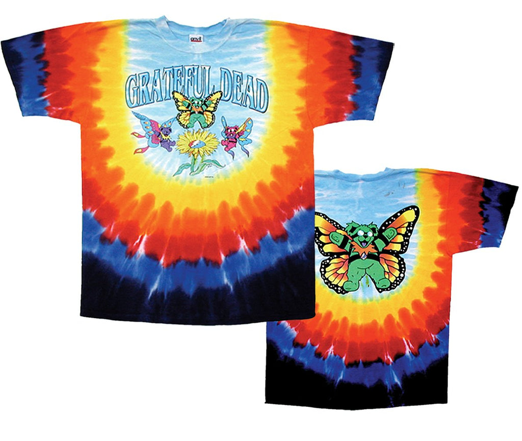 Butterfly Bears tie dyed t-shirt