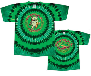 Grateful Dead Celtic Bear tie dye t-shirt
