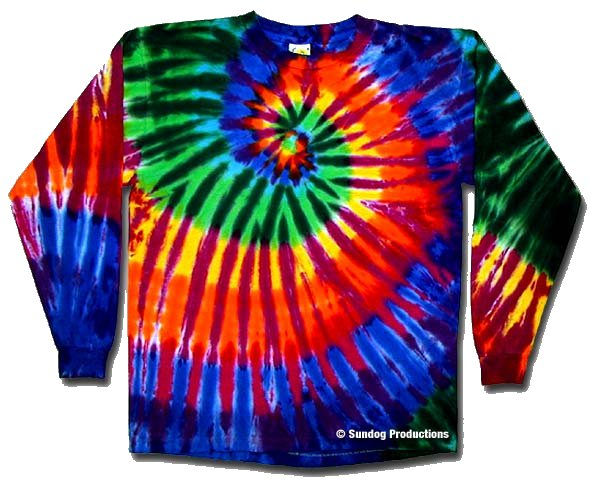 Extreme Rainbow Long Sleeve Tie Dye t-shirt - eDeadShop.com
