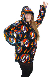 Grateful Dead Steal your Face Fleece Baja Pull Over Jacket - eDeadShop.com
