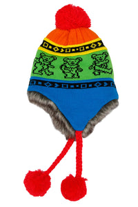 Grateful Dead Bears Ski Hat Rainbow