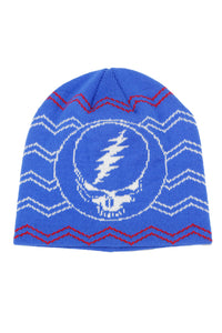 Grateful Dead Knit Beanie Steal your Face Hat in Stella Blue - eDeadShop.com