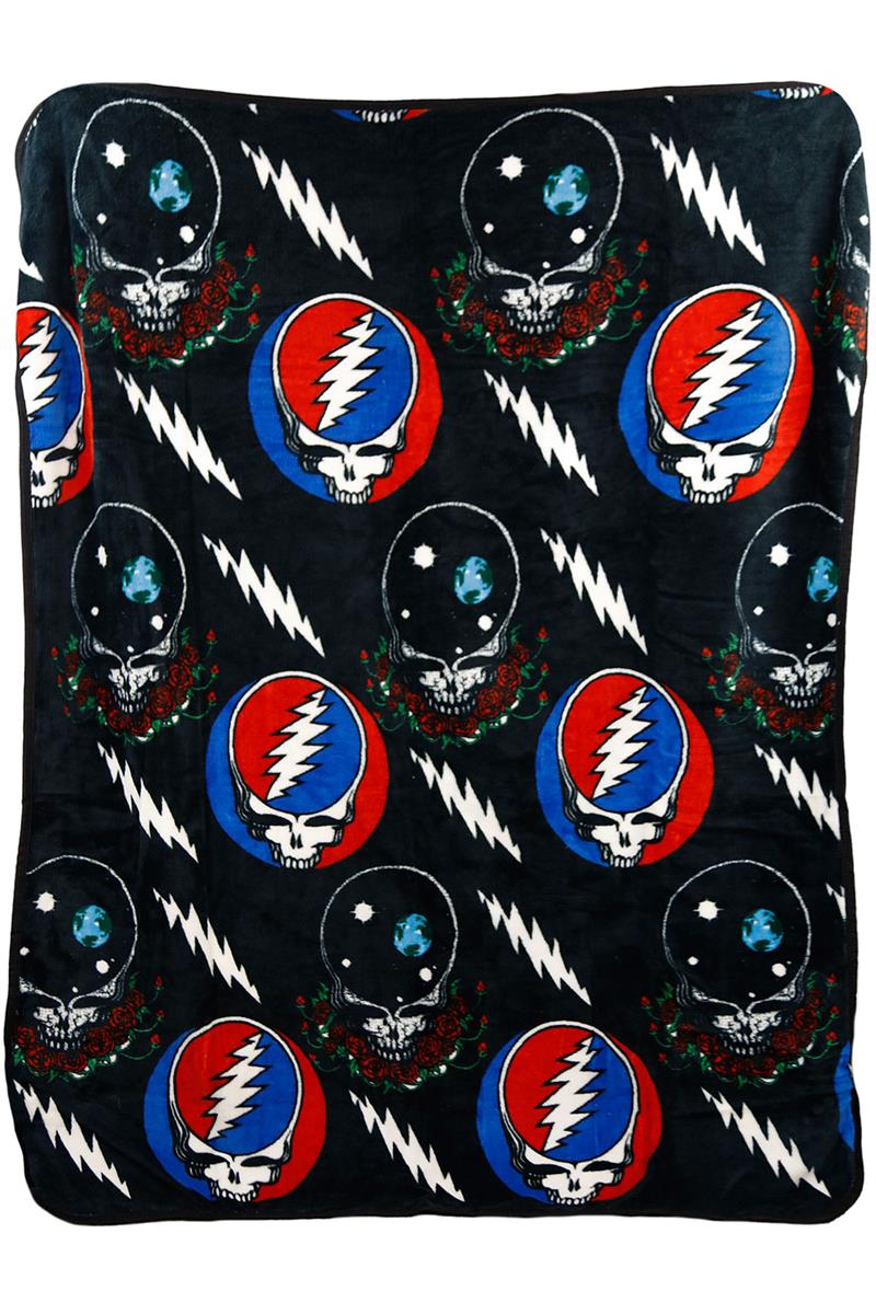 Grateful Dead Steal your Face Jumble Fleece Throw Blanket - eDeadShop.com