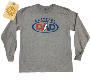 Grateful Dad on Grey Long Sleeve t-shirt