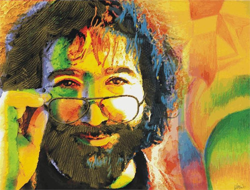 Jerry Garcia w/Nude Fleece Throw Blanket - eDeadShop.com