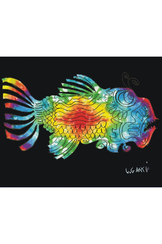 Jerry Garcia Fish Fleece Throw Blanket - eDeadShop.com