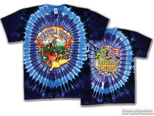 Walking Coast to Coast tie dye t-shirt