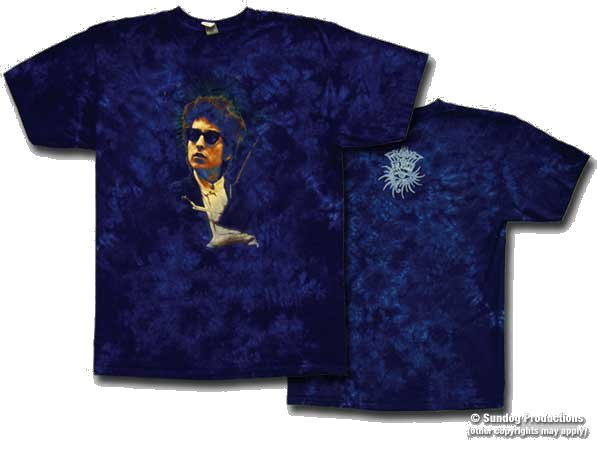 Bob Dylan - Surreal tie dye shirt
