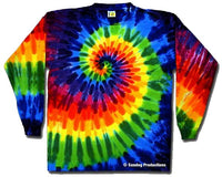 Rainbow Swirl Long Sleeve tie dye t-shirt