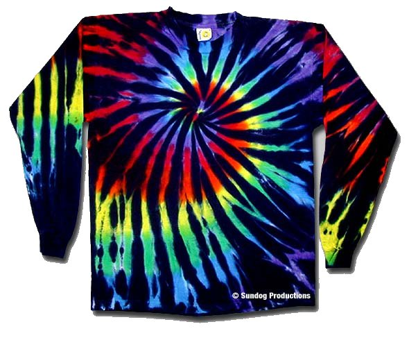 Stained Glass Long Sleeve Tie Dye Shirt - eDeadShop.com