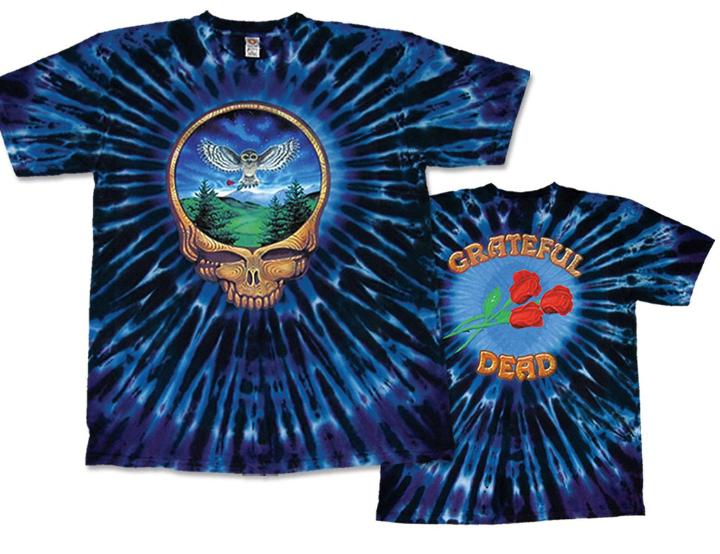 Steal Your Face - Owl tie dye t-shirt