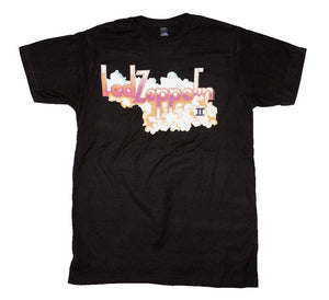 Led Zeppelin II Logo With Clouds T-Shirt